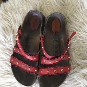 Birkenstock Shoes - Birkenstock Betula Rhinestone Leather Sandal